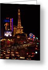 The Strip At Night 2 Greeting Card