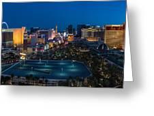 The Strip Las Vegas Greeting Card