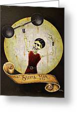 The Strong Man Greeting Card by Matthew Powell
