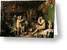 The Studio Of Jean Antoine Houdon Greeting Card