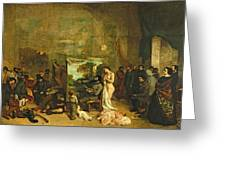 The Studio Of The Painter, A Real Allegory Greeting Card