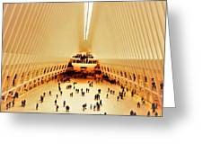 The Stunning Oculus In New York  Greeting Card