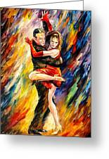 The Sublime Tango - Palette Knife Oil Painting On Canvas By Leonid Afremov Greeting Card