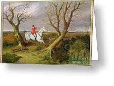 The Suffolk Hunt - Gone Away Greeting Card