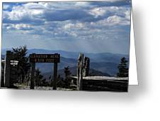 The Summit On Mount Mitchell Greeting Card
