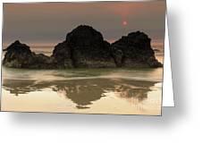 The Sun And Rocks Greeting Card