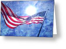 The Sun And The Flag Greeting Card