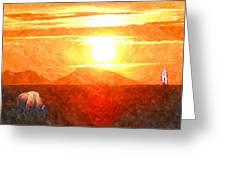 The Sun Dance Greeting Card