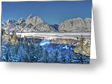 The Sun Rising On The Tetons Greeting Card