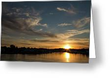 The Sun Sets In Milford Greeting Card