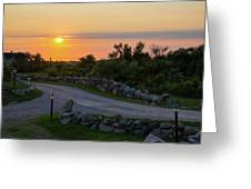 The Sun Sets On Block Island Greeting Card