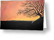 The Sun Was Set Greeting Card
