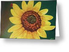 The Sunflower In Our Garden Greeting Card