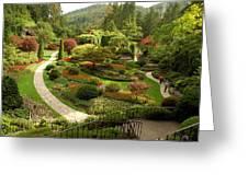 The Sunken Garden At Butchart Gardnes Greeting Card