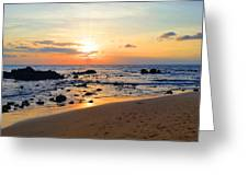 The Sunset Of Maui Greeting Card