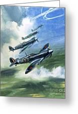 The Supermarine Spitfire Mark Ix Greeting Card