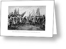The Surrender Of Cornwallis At Yorktown Greeting Card