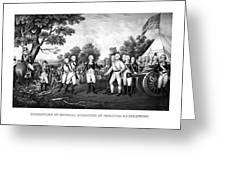 The Surrender Of General Burgoyne Greeting Card