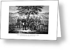The Surrender Of General Lee  Greeting Card