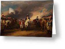 The Surrender Of Lord Cornwallis At Yorktown Greeting Card