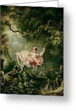 The Swing  Greeting Card by Jean-Honore Fragonard
