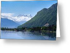 The Swiss Alps Overlooking Lake Geneva Greeting Card