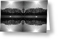 The Symmetry Of Light  Greeting Card