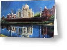 The Taj Mahal Shrine Of Beauty Greeting Card