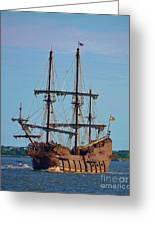 The Tall Ship El Galeon Greeting Card