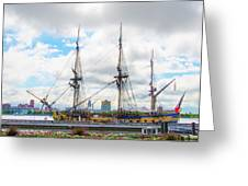 The Tall Ship Hermione - Philadelphia Pa Greeting Card