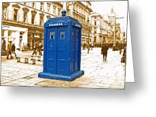 Blue Box  Greeting Card