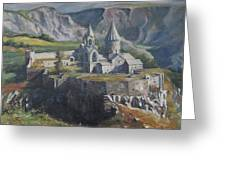 The Tatev Monastery Greeting Card by Tigran Ghulyan