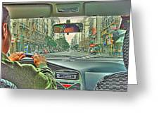 the Taxi Driver Greeting Card