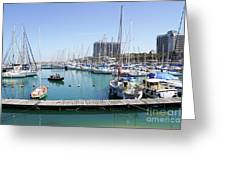 The Tel Aviv Marina  Greeting Card