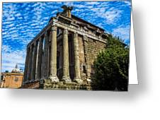 The Temple Of Antoninus And Faustina Greeting Card