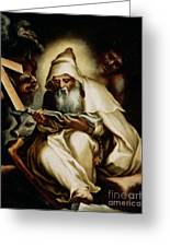 The Temptation Of Saint Anthony Greeting Card