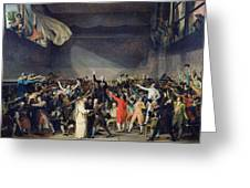 The Tennis Court Oath Greeting Card by Jacques Louis David