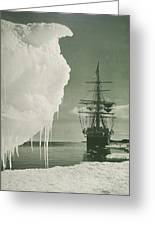 The Terra Nova At The Ice Foot Cape Evans Greeting Card