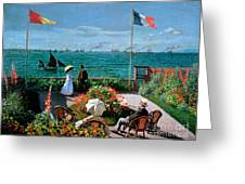 The Terrace At Sainte Adresse Greeting Card