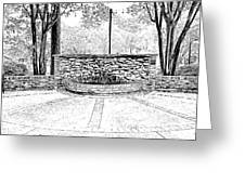 The Terrace In Black And White Greeting Card