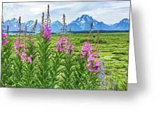 The Tetons Are Grand Greeting Card