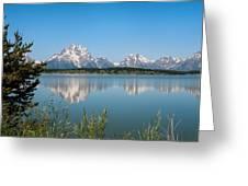 The Tetons On Jackson Lake - Grand Teton National Park Wyoming Greeting Card