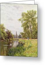 The Thames At Purley Greeting Card