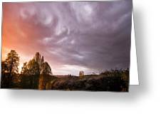 The Theatre Of Clouds Greeting Card