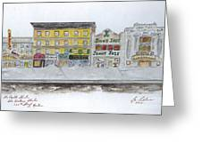 Theatre's Of Harlem's 125th Street Greeting Card