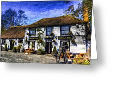 The Theydon Oak Pub Art Greeting Card