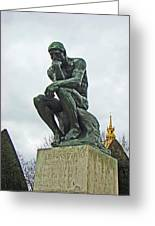 The Thinker By Rodin Greeting Card by Al Bourassa