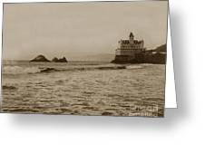 The  Third Cliff House And Seal Rocks From Pier, San Francisco,  Circa 1895 Greeting Card