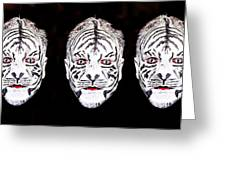 The Three Faces Greeting Card