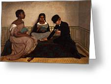 The Three Races Or Equality Before The Law Greeting Card